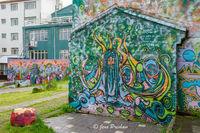 Graffiti Park, The Heart Park, Laugavegur, Reykjavik, Iceland, summer