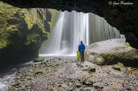 Gljufurarfoss, Hamragardar, Waterfall, South Iceland, Summer