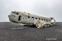 Super DC-3, United States Navy, Sólheimasandur, black sand beach, south Iceland, summer