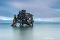 Hvitserkur, troll, stone cow, sea stack, Iceland, summer