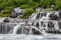 Hraunfossar, Borgafjoraur, Hallmundarhraun, Lava Field, Western Iceland, Summer