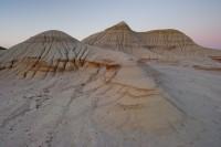 Hoodoos, Rills, Sunset, Dinosaur Provincial Park, UNESCO World Heritage Site, Alberta, Canada, Summer