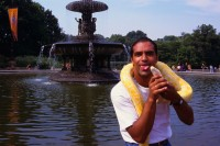Snake,Albino Python,Bethesda Fountain,Terrace,Central Park,Manhattan,New York,USA,Summer