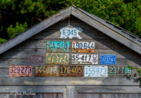 License Plates, Garage, Tofino, Vancouver Island, British Columbia, Canada, Sunset, Summer