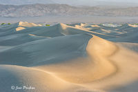 Sand Dunes, Sunrise, Mountains, Mesquite Flats, Death Valley National Park, California, USA