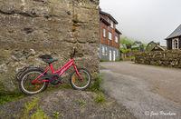 bicycle, Bour, Vagar, Faroe Islands, Village, Summer
