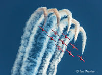 Snowbirds, Canadair CT-114 Tutor, Airshow, Nine Plane Formation, British Columbia, Canada, Summer