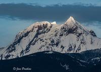 Mount Garibaldi, Sunset, Atwell Peak, Squamish, Coast Mountains, British Columbia, Winter, Canada