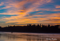 Long Beach, Sunset, Cirrus Clouds, Pacific Rim National Park Reserve, Tofino, Vancouver Island, British Columbia, Canada, Pacific Ocean, Summer
