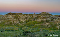 Sunset, Dinosaur Provincial Park, UNESCO World Heritage Site, Alberta, Summer, Badlands