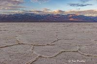 Badwater Basin, Telescope Peak, Sunrise, Panamint Range, Death Valley National Park, California, USA