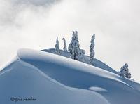 cornice, Mount Seymour Provincial Park, British Columbia, Canada, sunrise, winter