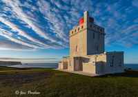 Dyrhólaey, Dyrhólaeyjarviti, Lighthouse, Reynisdrangar, North Atlantic Ocean, South Iceland, Summer, Sunrise