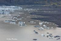 Skaftafellsjökull, Vatnajökull National Park, Vatnajökull Ice Cap, Icebergs, Moraines, Meltwater, South Iceland, Summer
