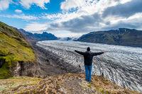 Self Portrait, Skaftafellsjökull Glacier, Vatnajökull National Park, South Iceland, Summer