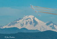 Canadian Forces Snowbirds, 431 Air Demonstration Squadron, Mount Baker, Abbotsford, British Columbia, Canada, Summer, Sunset