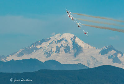The Snowbirds and Mount Baker