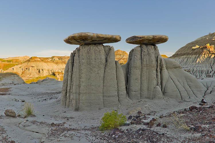 Hoodoos,Badlands,Sunset,Dinosaur Provincial Park,UNESCO World Heritage Site,Alberta,Canada,Travel,Summer, photo
