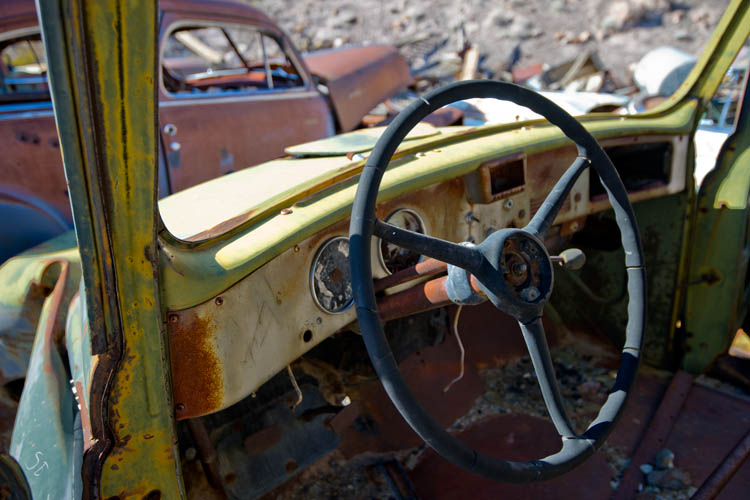 Old Car,Scottys Castle,Death Valley National Park,California,United States of America,Winter,December, photo