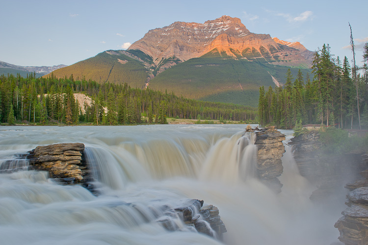Athabasca Falls, Jasper National Park, Rocky Mountains, Alberta, Canada, Summer, photo