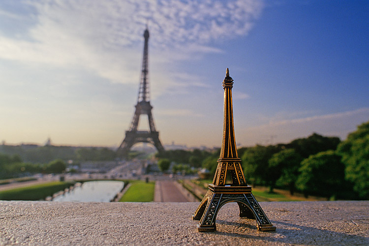 Eiffel Tower Souvenir In Paris, France