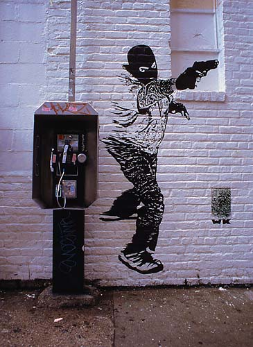 Mural,Payphone,Manhattan,New York,USA,Travel,Summer, photo