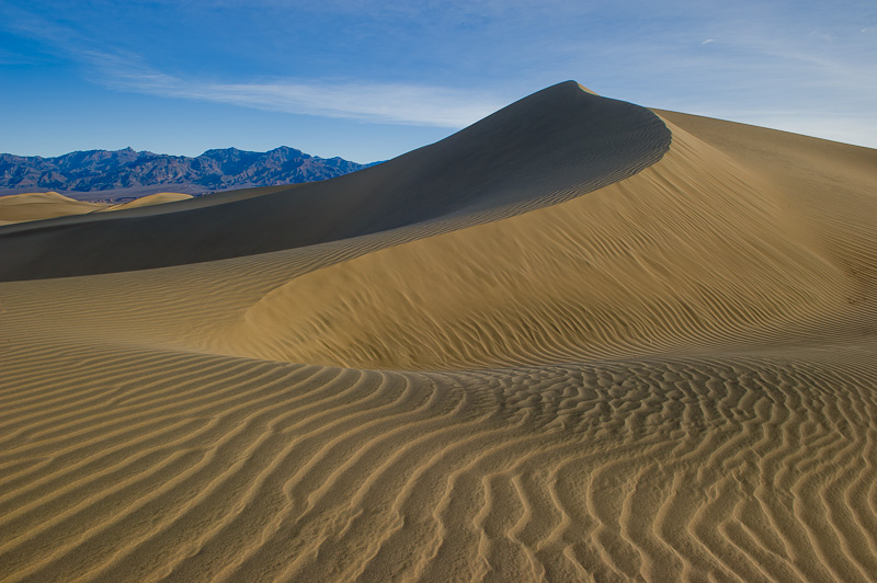 Sand Dunes, Grapevine Mountains, Death Valley National Park, Sunrise, California, USA, Winter, photo