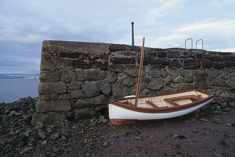 Wooden Boat At Low Tide