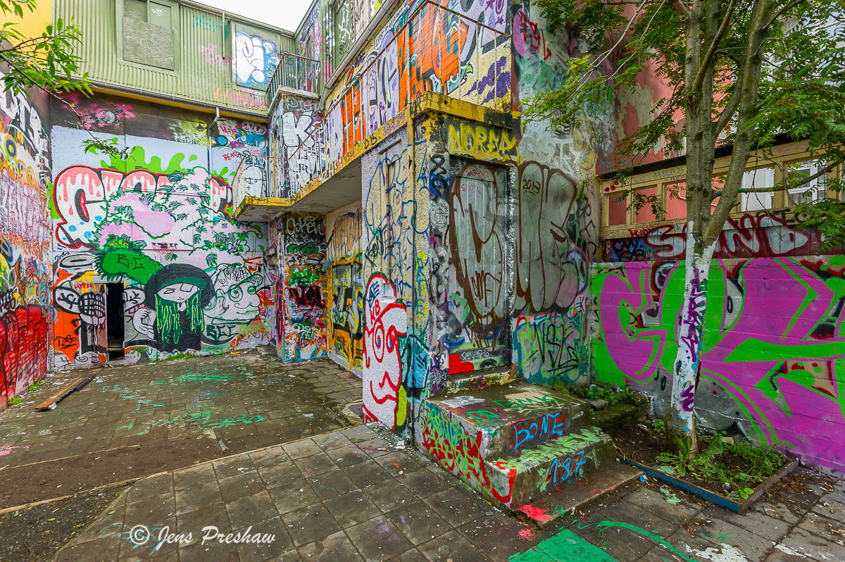 street art, basketball hoop, Heart Park, Graffiti Park, Reykjavik, Iceland, Summer, photo
