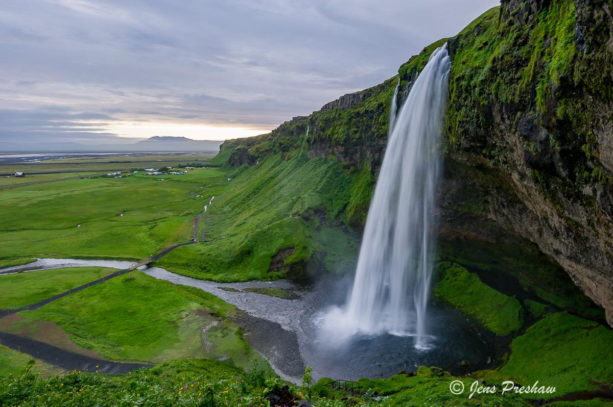 Seljalandsfoss, Waterfall, Hamragardar, Southwest Iceland, Ring Road, summer, photo