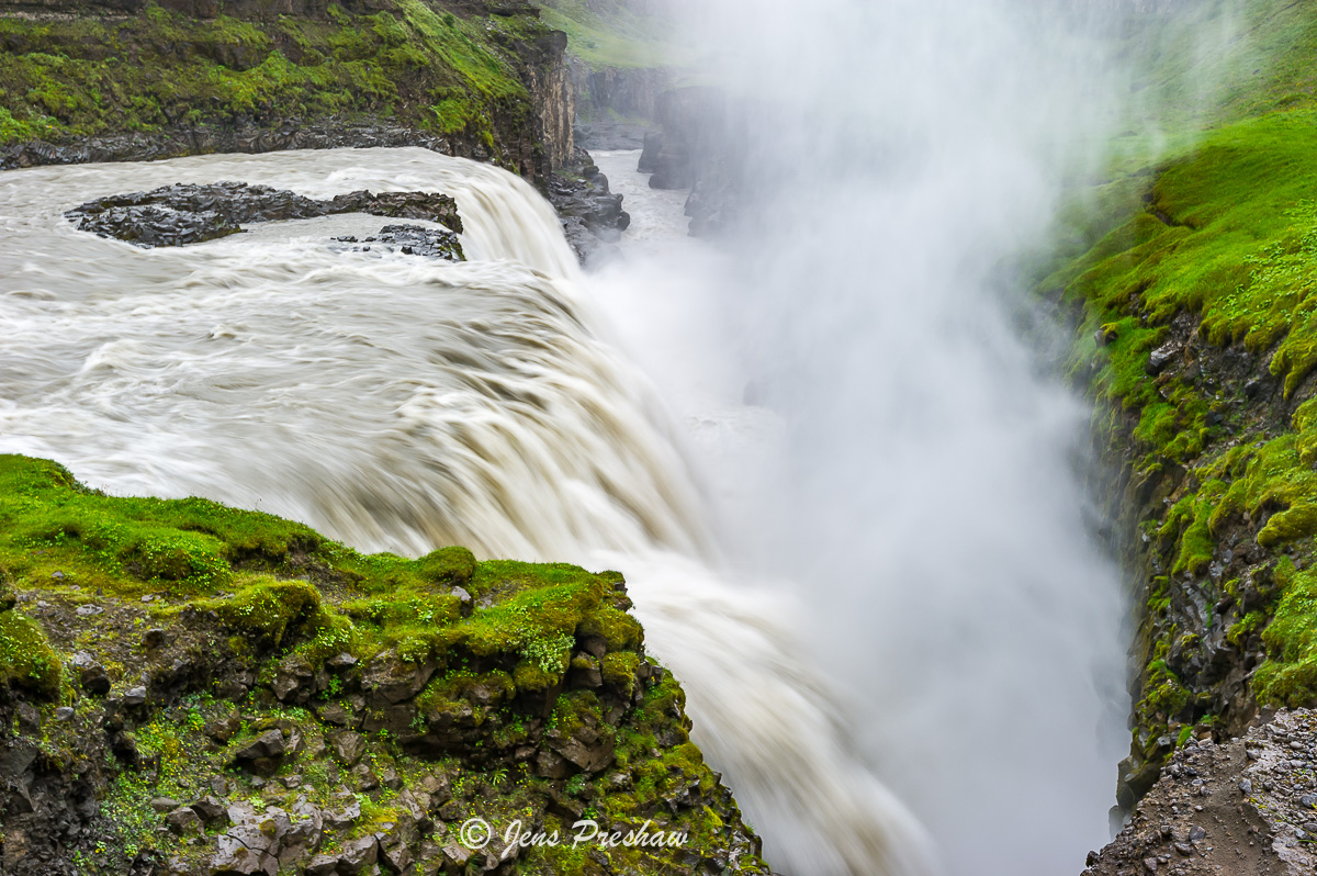 Gullfoss, Golden Circle, Hvita river, Southwest Iceland, summer, photo