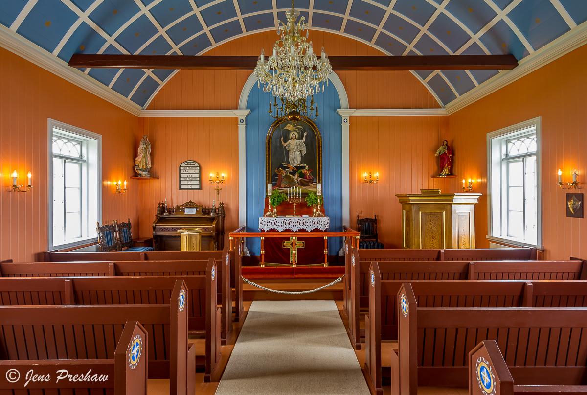 Strandarkirkja, Church, interior, Selvogur, Iceland, Summer, photo