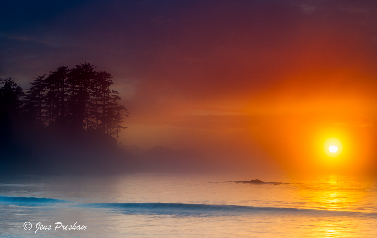 Chesterman Beach, Fog, Tofino, British Columbia, Vancouver Island, Sunset, Canada, Summer, photo