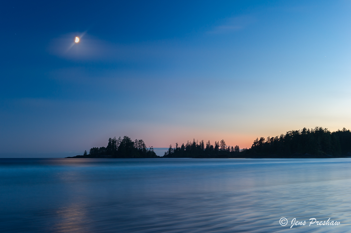 sunset, Long Beach, Pacific Rim National Park Reserve, Esowista, Vancouver Island, British Columbia, Canada, summer, photo