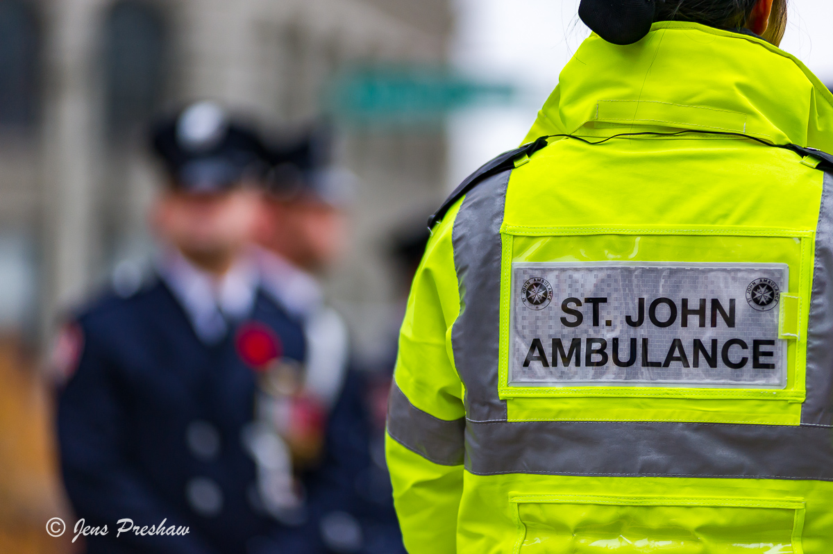 Remembrance Day, St. John Ambulance, Victory Square, Vancouver, British Columbia, Canada, Fall, photo
