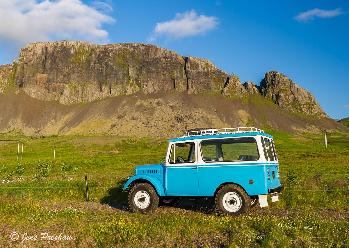 Jeep, Reykholt, West Iceland, Summer, photo