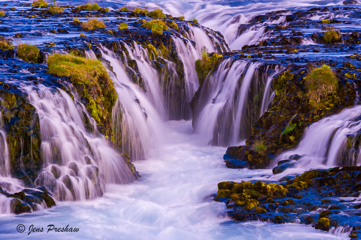 Bruarfoss, Bruar River, West Iceland, Summer, photo