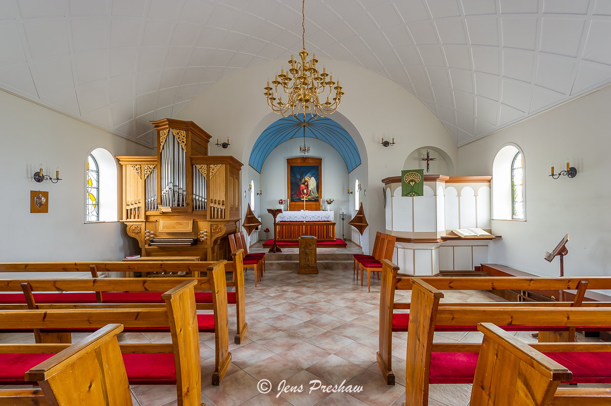Hatun, church, Vik, South Iceland, North Atlantic Ocean, summer  , photo