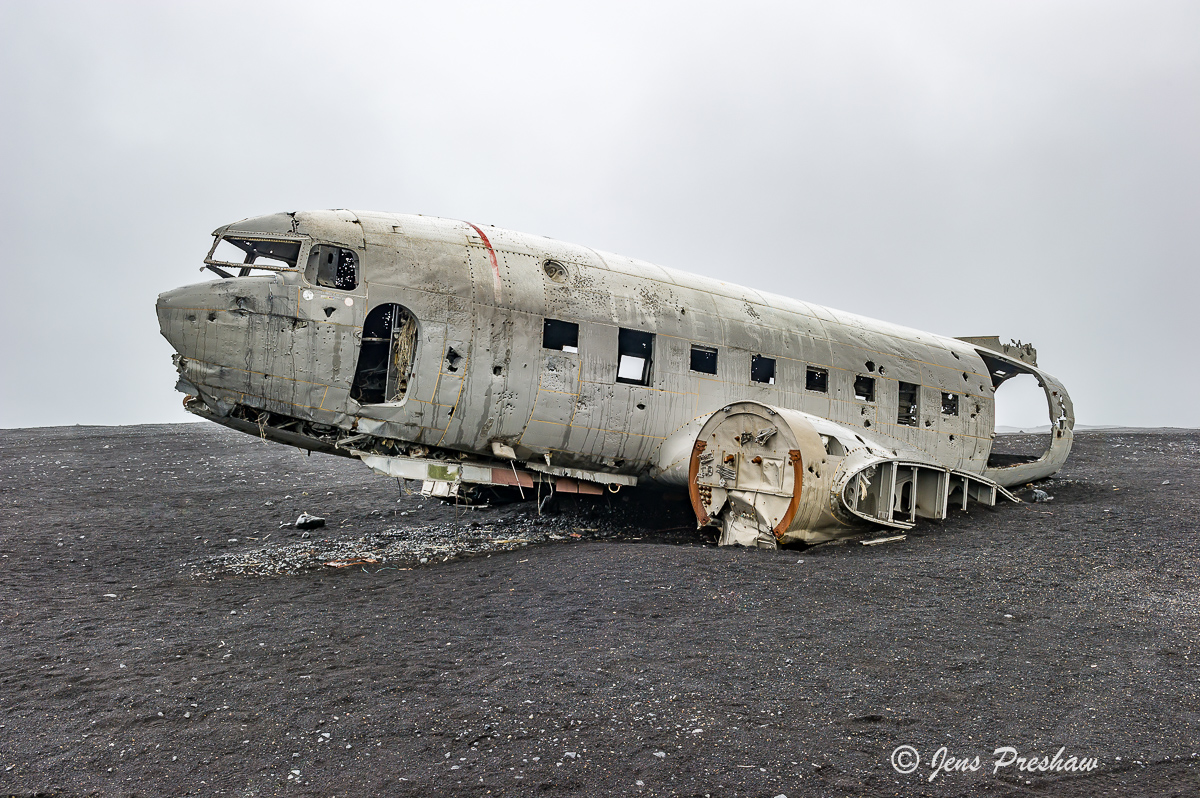 Super DC-3, United States Navy, Sólheimasandur, black sand beach, south Iceland, summer, photo