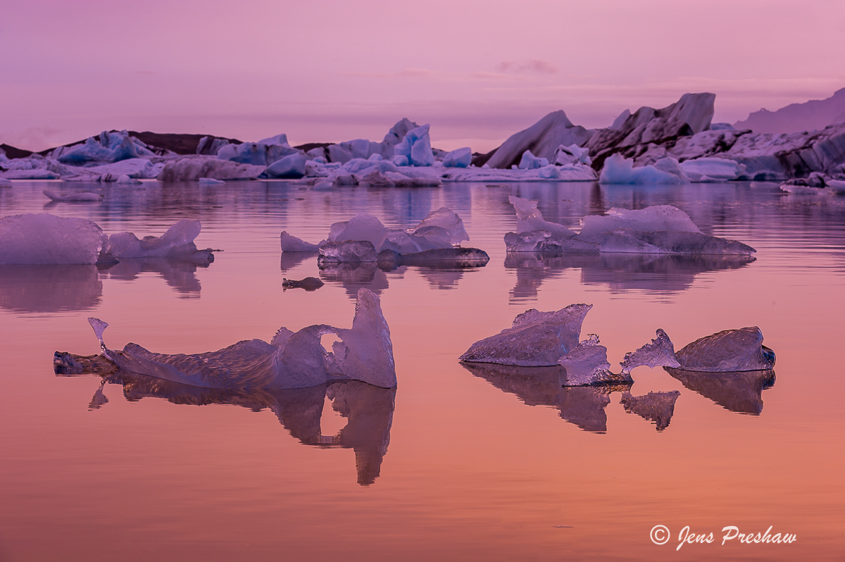 Icebergs, Jokulsarlon, Glacial Lake, South Iceland, Summer, photo