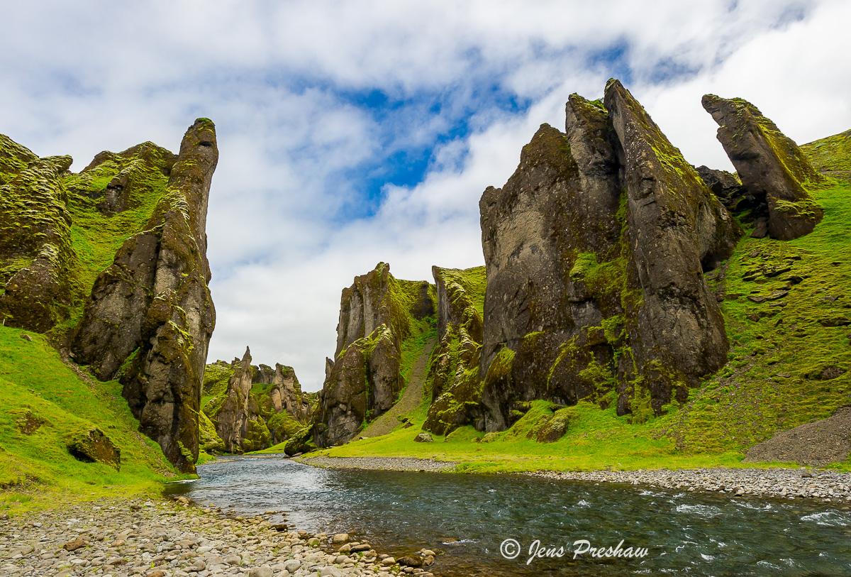 Fjaorargljufur Canyon, Kirkjubaejarklaustur, Fjaora River, Iceland, Summer