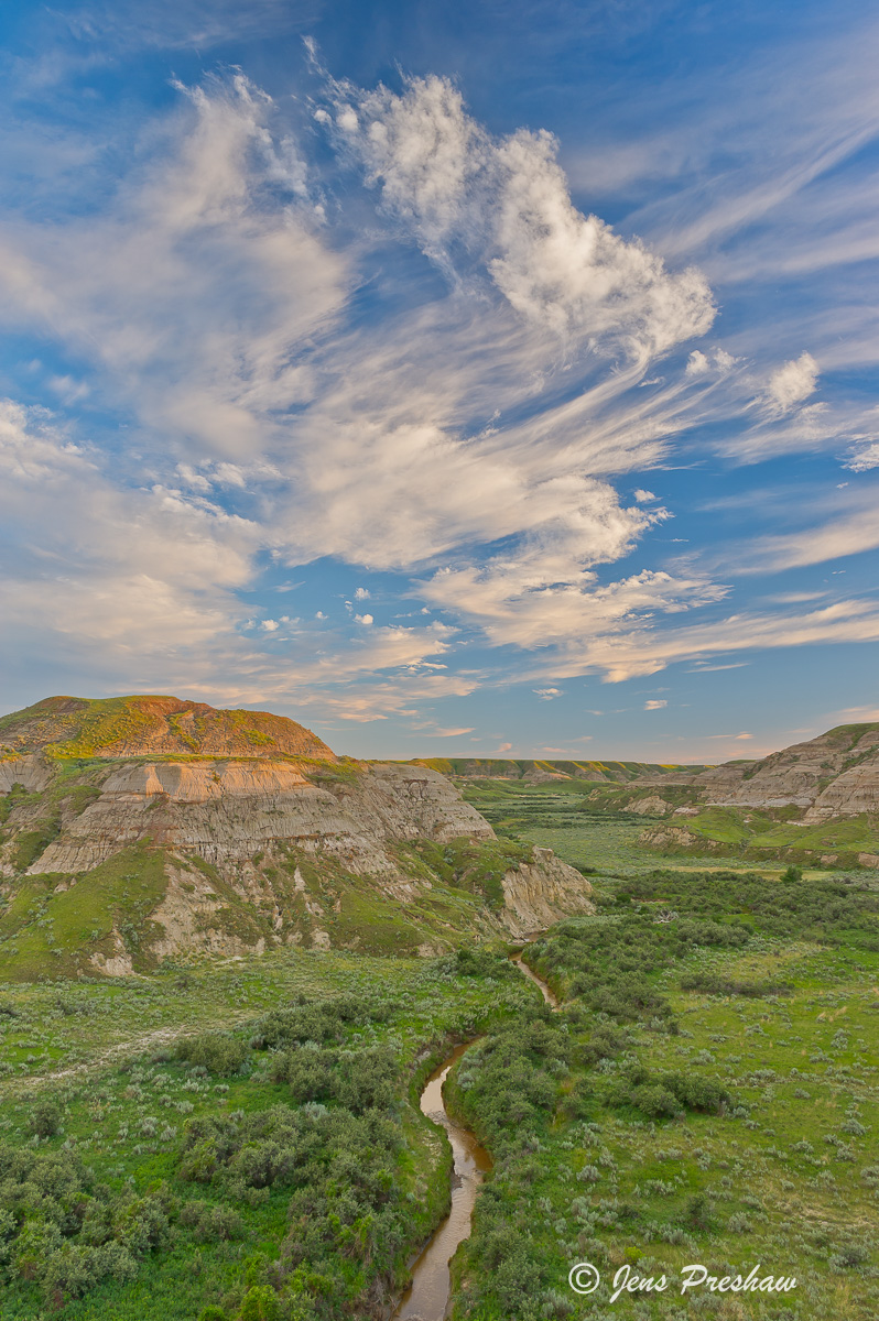 Badlands, Clouds, Dinosaur Provincial Park, UNESCO World Heritage Site, Alberta, Canada, Summer, photo