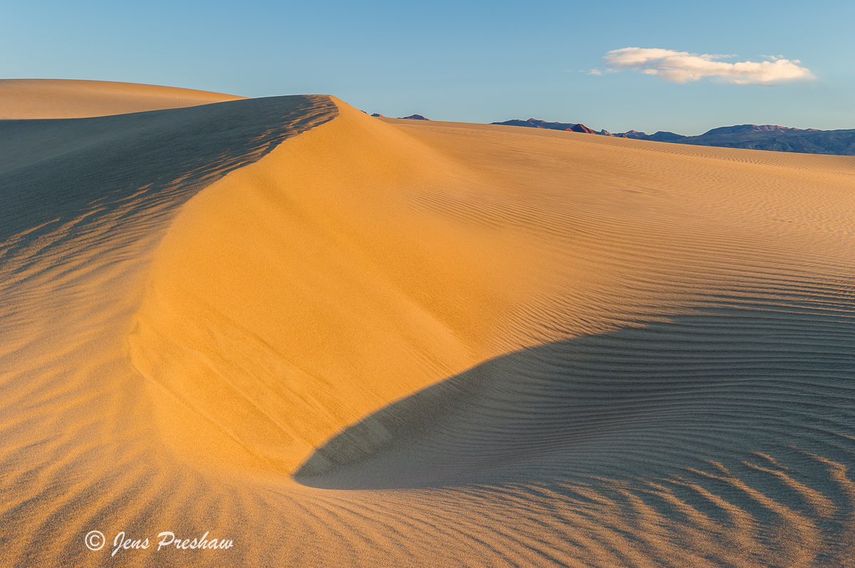 Sand Dune, Avalanche, Mesquite Flat Sand Dunes, Death Valley National Park, California, USA, Sunrise, photo