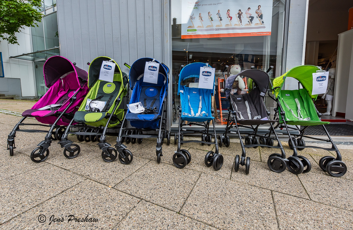 Baby Strollers, Store, Tórshavn, Streymoy, Faroe Islands, North Atlantic Ocean, Summer, photo