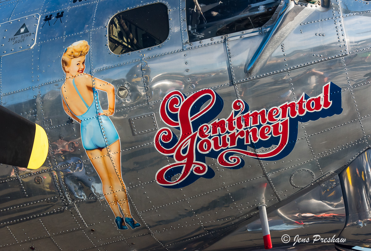 Boeing B-17G Flying Fortress, Sentimental Journey, World War II, Betty Grable, Doris Day, Abbotsford Airshow, British Columbia, Canada, Summer, photo