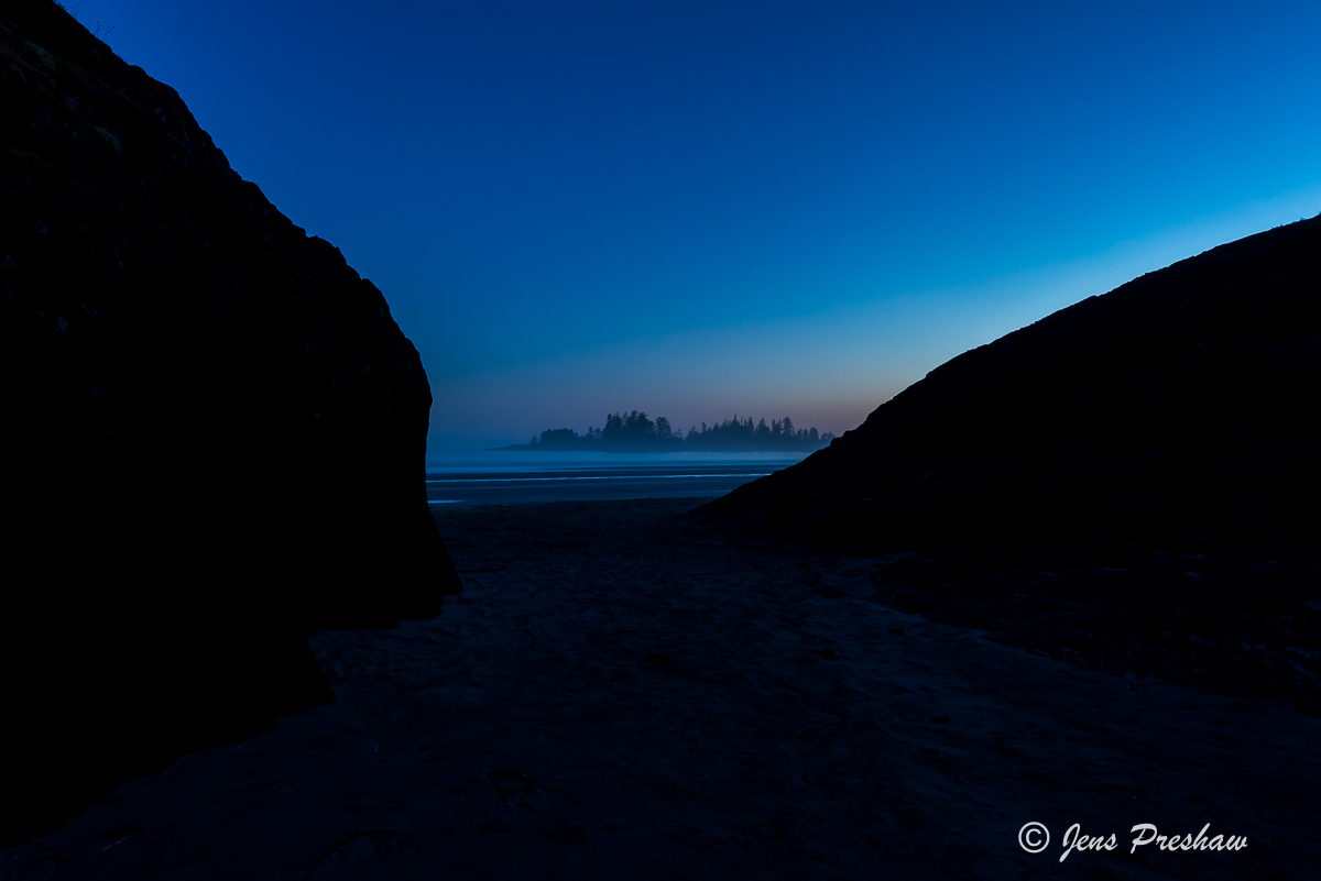 When I took this image there wasn't a breath of wind. The only thing I could hear was the relaxing sound of the surf.
