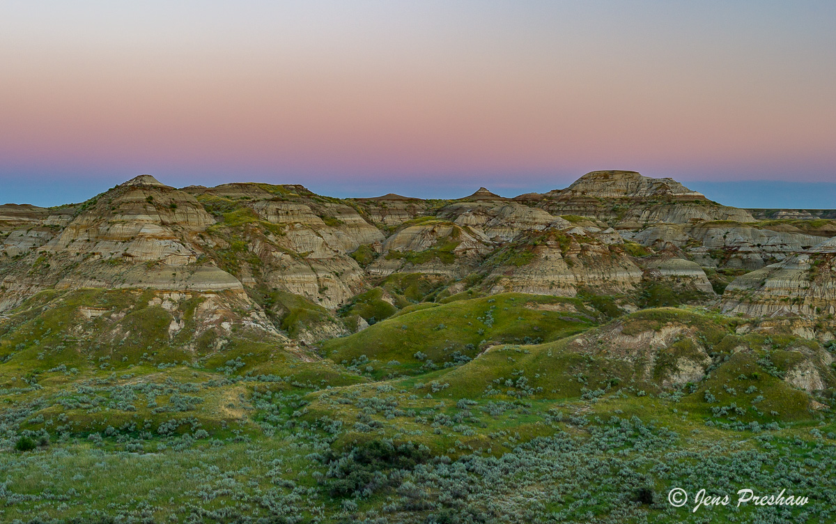 Sunset, Dinosaur Provincial Park, UNESCO World Heritage Site, Alberta, Summer, Badlands, photo