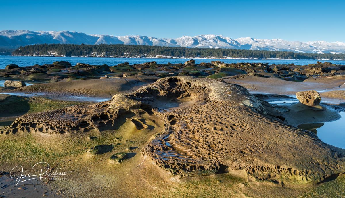 Heron Rocks, Sandstone, Hornby Island, The Salish Sea, British Columbia, Vancouver Island, Comox Valley, Northern Gulf Islands, photo
