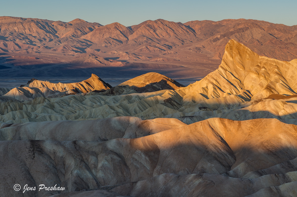 Zabriskie Point, Manly Beacon, Sunrise, Amargosa Range, Death Valley National Park, California, USA, photo