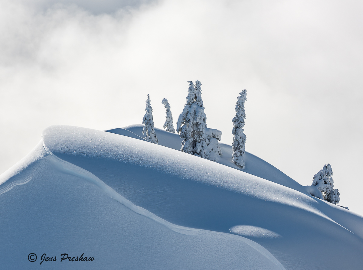 cornice, Mount Seymour Provincial Park, British Columbia, Canada, sunrise, winter, photo